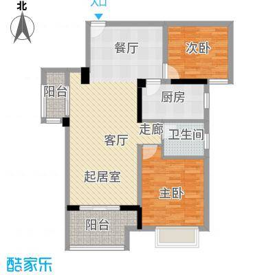 荣鼎幸福城85.00㎡户型2室1卫1厨