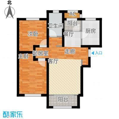 华厦津典三期川水园99.24㎡A3户型2室2厅1卫