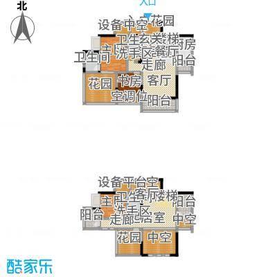 黄河畔岛户型3室3卫1厨