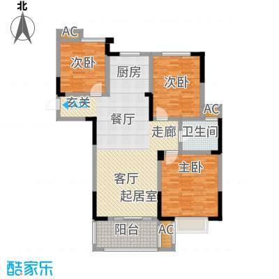 三金燕语庭111.00㎡D3户型3室2厅1卫