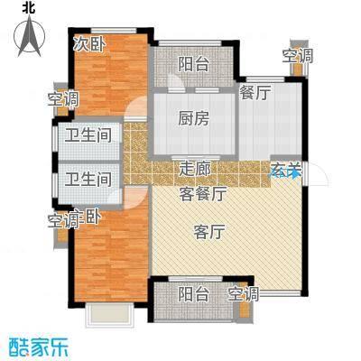 雅戈尔太阳城缘邑125.00㎡L户型4室2厅2卫