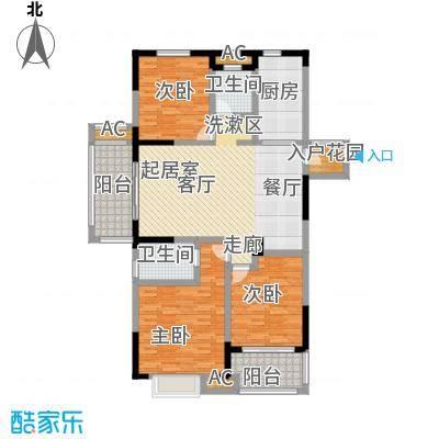 三金燕语庭135.00㎡A2户型3室2厅2卫