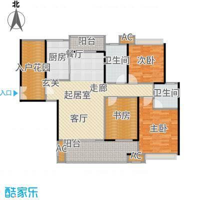 蓝光名仕公馆144.00㎡C1户型 144平米户型3室2厅2卫
