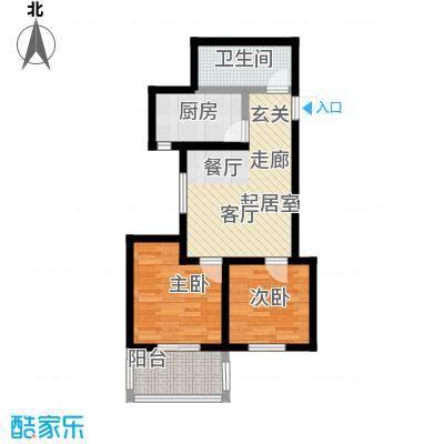 龙潭湖凤凰山庄54.87㎡55公寓B户型两室一厅一卫户型-T