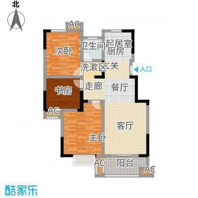 三金燕语庭108.00㎡D2户型3室2厅1卫