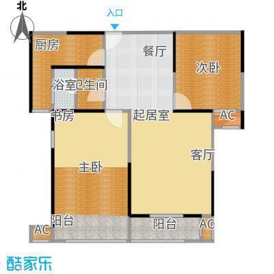 蓝光名仕公馆99.00㎡A户型 99平米户型2室2厅1卫