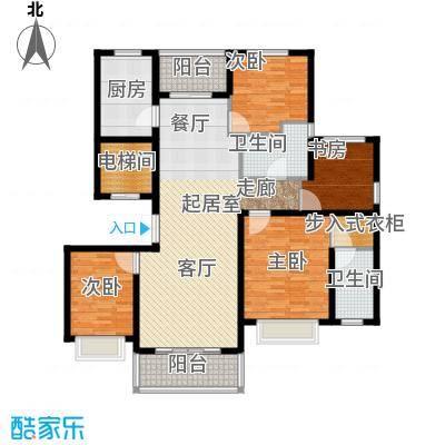 中房颐园143.00㎡B户型4室2厅2卫