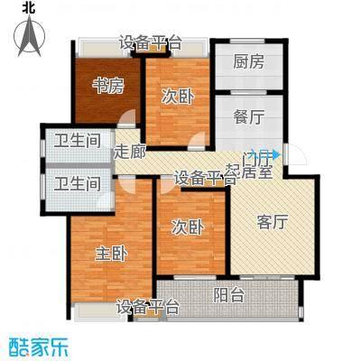 万科玲珑东区135.00㎡B2户型4室2厅2卫户型4室2厅2卫