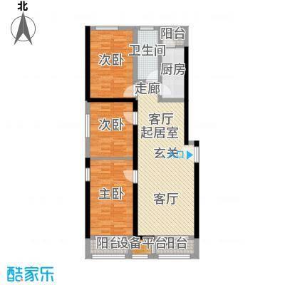 东亚香堤丽舍112.39㎡C2户型3室2厅1卫