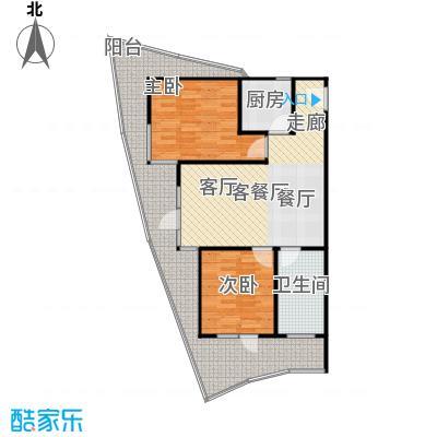 海天翼J户型2室2厅1卫