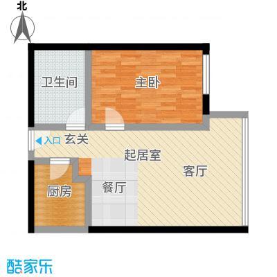 昆仑中心83.00㎡D户型1室1厅1卫