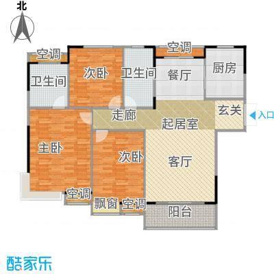 元一柏庄137平米三居户型3室2厅2卫