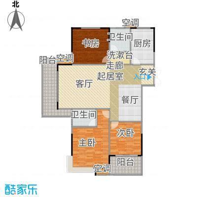 元一柏庄140平米三居户型3室2厅2卫