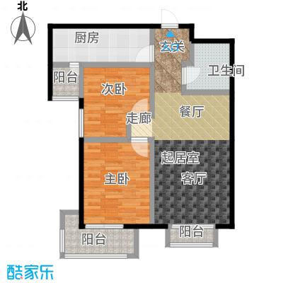 源盛嘉禾86.00㎡高层G-3户型2室2厅1卫