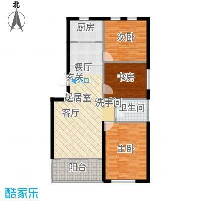 天福城户型3室1卫1厨