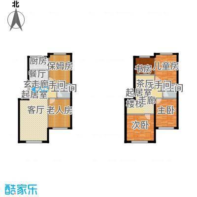 天福城户型5室2卫1厨