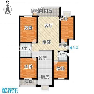 居安家园S户型4室2卫