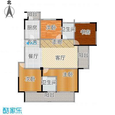 高科荣境130.00㎡B1户型4室1厅2卫1厨