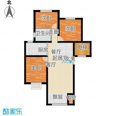公元2099115.00㎡2号楼、4号楼户型3室2厅1卫