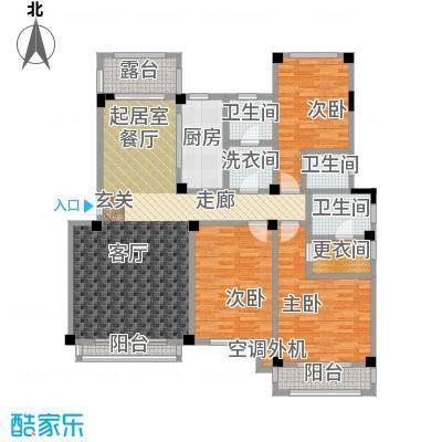 锦尚天华159.04㎡洋房 E户型3室2厅3卫