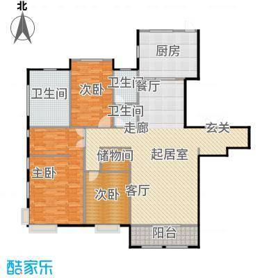 融侨观邸8号楼2层户型3室2厅2卫