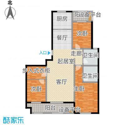 海洋城137.00㎡B3-7户型2-9层户型3室2厅2卫