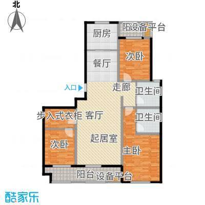 海洋城140.00㎡B1户型5-9层户型3室2厅2卫