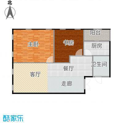 百大绿城西子国际123.00㎡3号楼E户型2室2厅1卫