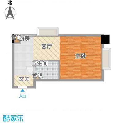 长庚老年公寓二期万华61.63㎡A户型-1室1厅1卫户型