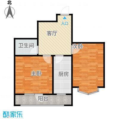长堤湾67.98㎡高层G2-3户型2室1厅1卫