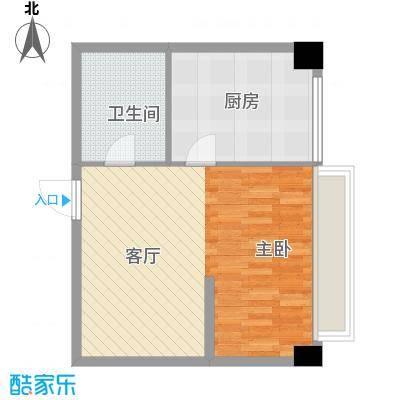 长庚老年公寓二期万华49.82㎡C户型-1室1厅1卫户型