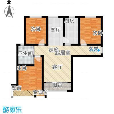 松石国际城户型3室1卫1厨