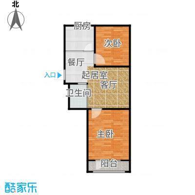 长堤湾77.93㎡高层G4户型2室2厅1卫