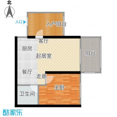 滨海湾F户型1室2厅1卫