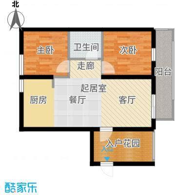 滨海湾D户型2室2厅1卫