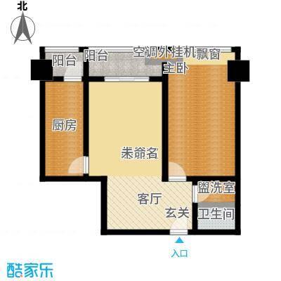 华夏世纪广场户型1室1卫1厨