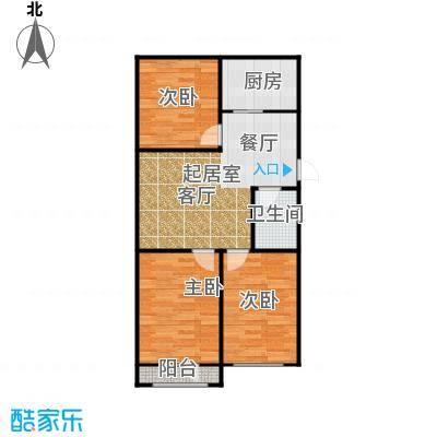 长堤湾98.00㎡高层G2-4户型3室2厅1卫