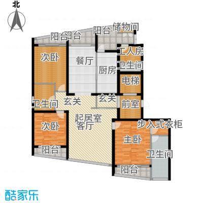 湖滨御景花园四房三厅-229平-46套户型