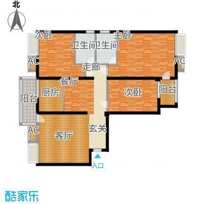 胜中尚东水润150.00㎡B户型3室2厅2卫