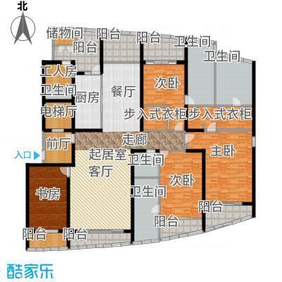 湖滨御景花园五房三厅-340平-46套户型