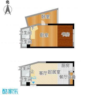 晓庄国际广场92.25㎡L户型2卫