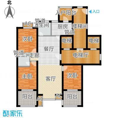 永康城市花园164.00㎡三室两厅两卫164平米户型3室2厅2卫