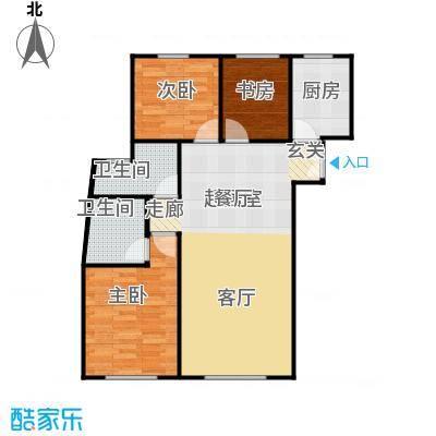 维多利大商城110.50㎡C8-1户型3室2厅2卫