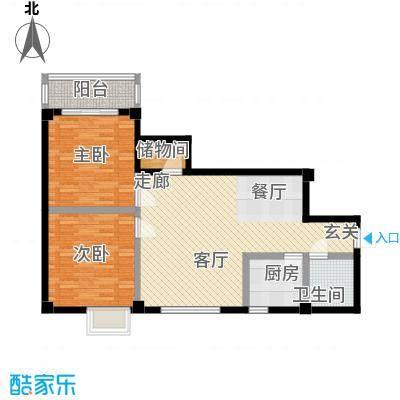 太子花苑83.00㎡12号楼B户型2室2厅1卫