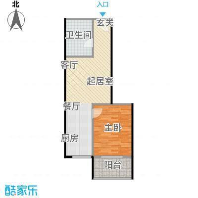 翰林17坊翰林17坊 1室1厅1卫1厨-54.20㎡户型
