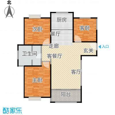 正元怡居119.86㎡D户型图3室2厅1卫1厨 119.86㎡户型3室2厅1卫