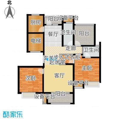 苏公馆120.00㎡A2户型3室2厅2卫
