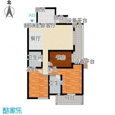 高新名门146.54㎡A座1单元d户户型3室2厅2卫