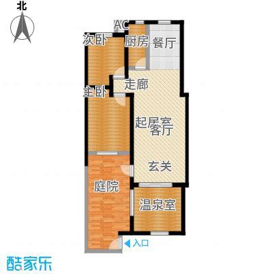 悦榕泉105.00㎡A户型一层(南入口)户型-T