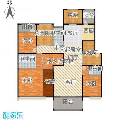 中海紫御公馆252.00㎡迎海大宅户型3室2厅2卫